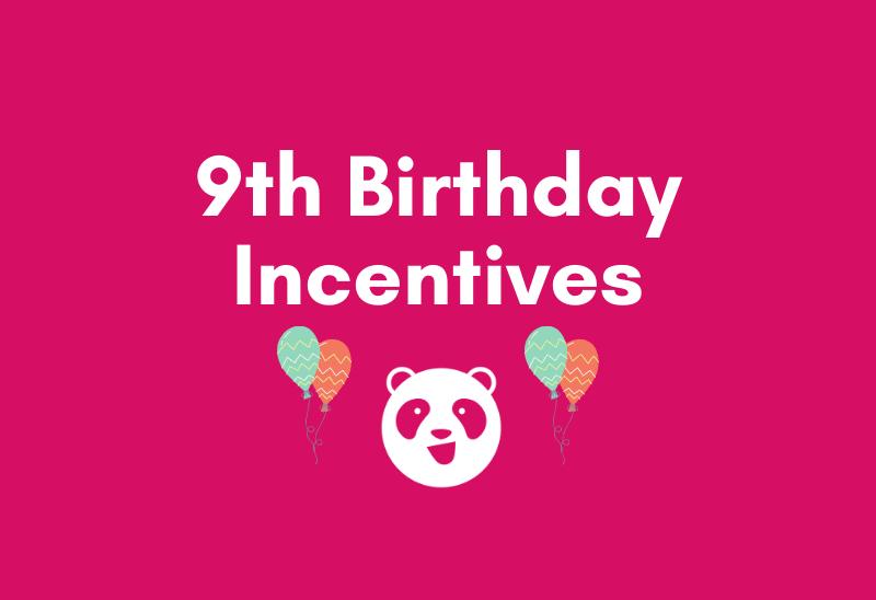 foodpanda 9th Birthday Incentives